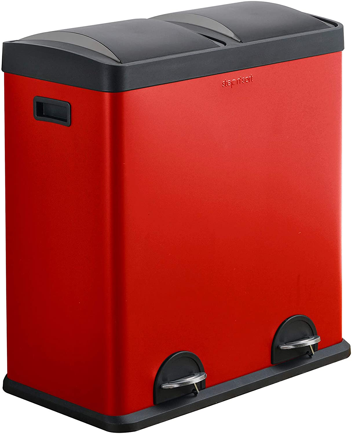 Step N' Sort 16 Gallon RED Trash Dual and Be super welcome New mail order Reclying Bin Gall