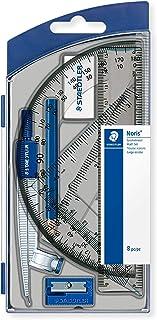 Staedtler 550 60 S8 – Juego de geometría con 8 artículos en funda con tapa plegable