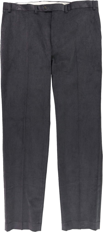 Ralph Lauren Mens Classic-Fit Stretch Cord Casual Trouser Pants, Grey, 32W x 32L
