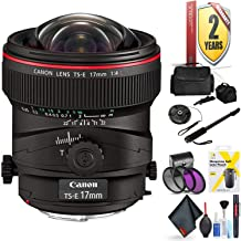 Canon Ts-E 17mm F/4L Tilt-Shift Lens for Canon 6D, 5D Mark IV, 5D Mark III, 5D Mark II, 6D Mark II, 5Dsr, 5Ds, 1Dx, 1Dx Mark II + Accessories (International Model)