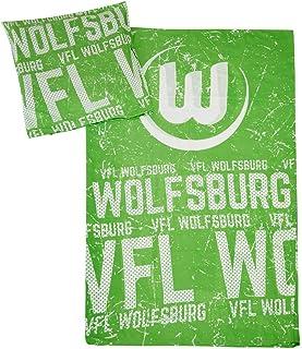 VfL Wolfsburg Bettwäsche Logo Bezug 135x200cm Kissen 80x80cm 60% Baumwolle 40% Polyester