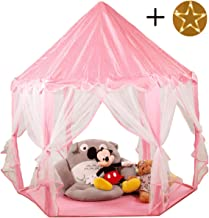 FUNTRESS Princess Castle Kids Play Tent Large Playhouse with Star Light Gift for Girl/Boy, Indoor & Outdoor Toy