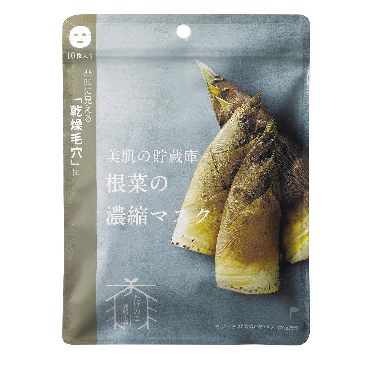 ためらう相互繕う@cosme nippon 美肌の貯蔵庫 根菜の濃縮マスク 孟宗竹たけのこ 10枚 160ml