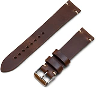 Benchmark Basics Horween Chromexcel Horsehide Leather Minimalist Watchband | Handmade in Brooklyn | 20mm & 22mm