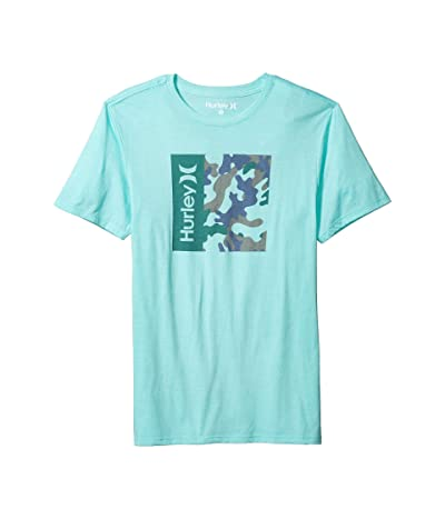 Hurley One Only Camo Box Short Sleeve Tee (Aurora Green/Heather) Men