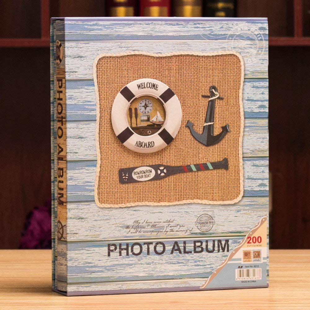 Skyinbags OFFer Photo Albums Creative Wooden 7-Inch Type Insert Anchor Max 43% OFF