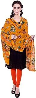 Vastraa Fusion Dupatta/Stole Cotton for Women Design With Thread Work Embroidery Traditional Aari Chakachak Dupatta