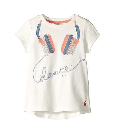 Joules Kids Astro T-Shirt (Toddler/Little Kids/Big Kids) (Cream Headphones) Girl