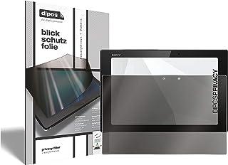 dipos Jag sekretessfilter kompatibelt med Sony Xperia Tablet Z2 (vertikalt format) I skärmskydd anti-spion 2-vägs skydd