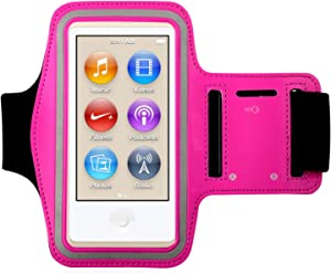 King of Flash New iPod Nano 7th Generation Premium Water Resistant Armband Case Cover for use While Jogging, Gym, Running, Bike Riding & Other Sports Activities