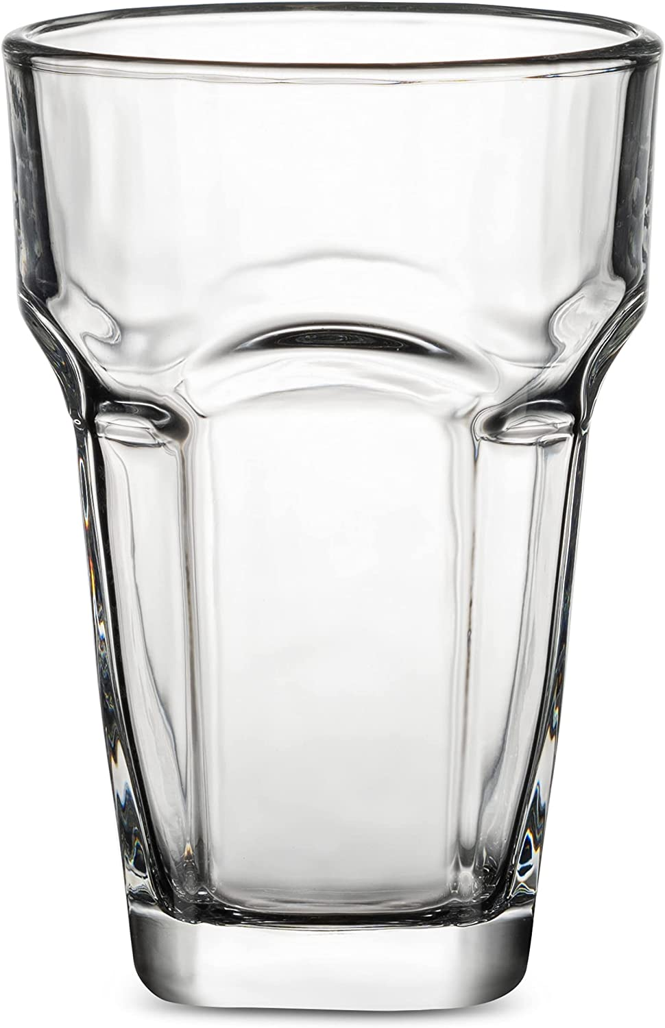 Highball Glasses, Set Of 6 Stackable 14 oz. Juice & Water Glasses for Soda, Coke, Beer, Spirits and Everyday Use.