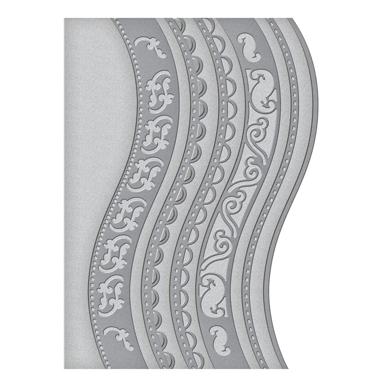 Spellbinders S5-180 A2 Curved Borders One Card Creator Etched/Wafer Thin Dies