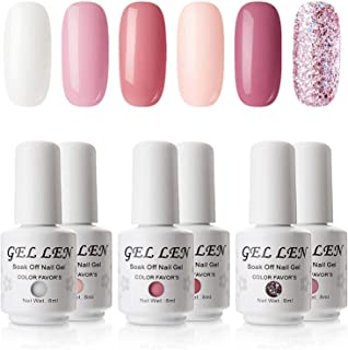 Gellen UV LED Gel Polish Kit Coral Peach Pink Shade- Selected 6 Colors Nail Gel Set