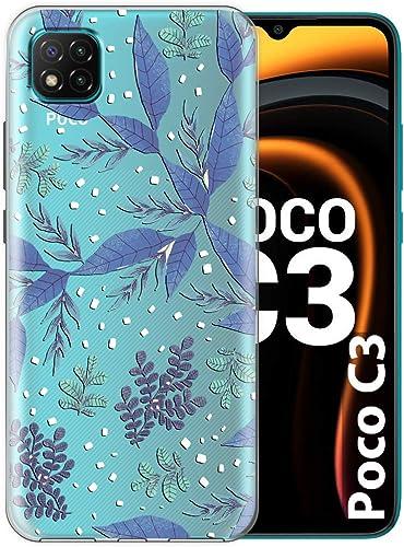Fashionury Back Cover for Poco C3 Designer Printed Transparent Flexible Silicon V197