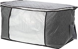 DHTOMC Sac de rangement pour vêtements - Grande capacité - Pliable - Sac de rangement avec fermeture éclair - Idéal pour l...
