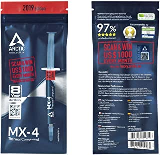 Arctic MX-4-4G 2019 Edition Thermal Compound Paste for All Coolers,Heat Sink Paste,Carbon Based High Durability, with Bonu...