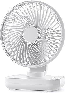 卓上扇風機 静音 USB扇風機 扇風機 小型 デスク扇風機 4000mAhバッテリー内蔵 12時間連続使用 4段階風量 USB充電式 軽量 省エネ 部屋 外出 車 オフィス 熱中症対策