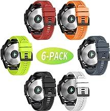 Notocity Compatible Fenix 5X Band 26mm Width Soft Silicone Watch Strap for Fenix 5X Plus/Fenix 6X/Fenix 6X Pro/Fenix 3/Fenix 3 HR/Descent MK1/D2 Delta PX/D2 Charlie-6pcs