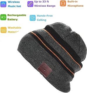 Bluetooth Hat Bluetooth Beanie Smart Hat Built-in Stereo Speaker Mic Wireless Headphones Beanie Sync Call Music for All Smart Phones Gift Men Women Boys Girls