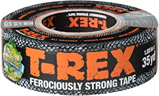 T-REX Ferociously Strong Tape, Duct Tape with UV Resistant & Waterproof Backing for Wood Brick Concrete and More, 35 yd. x...