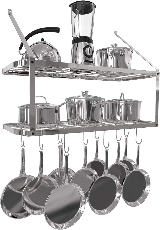 Vdomus shelf Purchase Popularity pot rack wall mounted racks tire hanging 2 sil pan