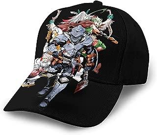 Mens Womens Adjustable Baseball Cap Anime Goblin Slayer Team Sunscreen Hat Black