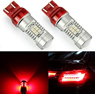 JDM ASTAR 1260 Lumens Extremely Bright PX Chipsets 7440 7441 7443 7444 992 LED Bulbs,Brilliant Red