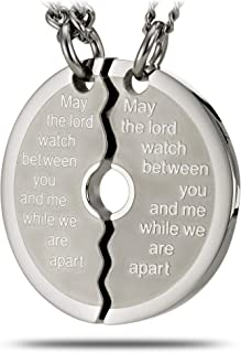 Stainless Steel Large Split Weight Plate Necklace-Genesis 31:49