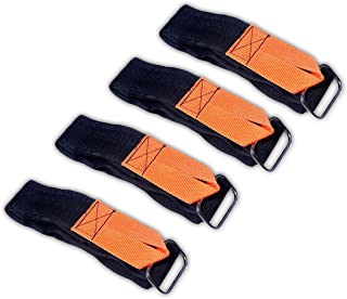 Touch Fastener Straps Double Side Tape Extention Universal Straps with Loop - 2 Inch x 36 Inch (4 Pack)