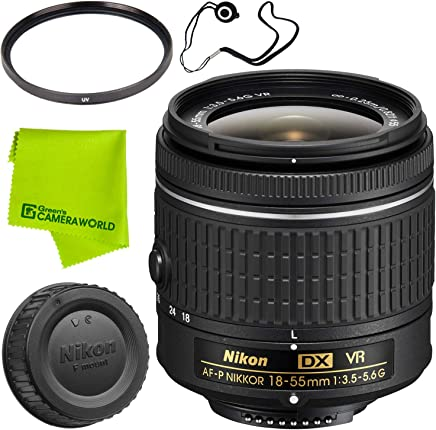 Nikon AF-P DX NIKKOR 18-55mm f/3.5-5.6G VR Lens Base Bundle