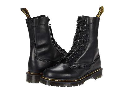 Dr. Martens Harron Mid Moto (Black Luxor) Shoes
