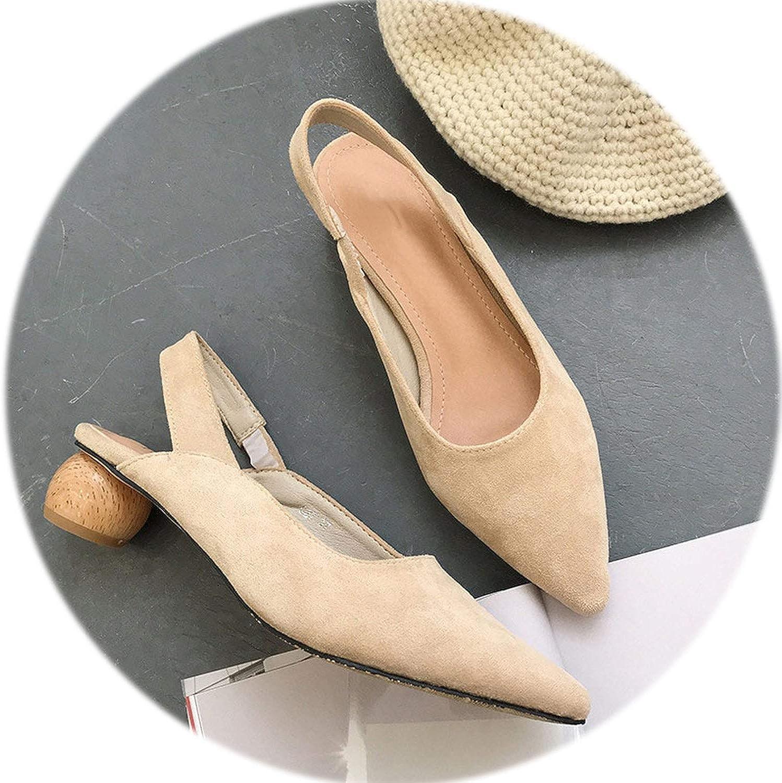 Gooding life Geometric Heel Slingbacks Ladies shoes Pointed Toe High Heels shoes Women Strange Heel Pumps shoes