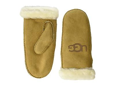 UGG Water Resistant Sheepskin Mitten (Chestnut) Extreme Cold Weather Gloves
