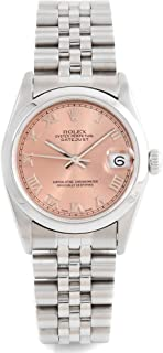 Rolex 68240 Midsize 31mm Datejust - Pink Roman Dial - Smooth Bezel - Jubilee Band (Certified Pre-Owned)