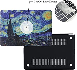 Rinbers 3D Print Ultra Slim Soft-touch Rubberized Hard Shell Case Snap-On Top&Bottom Hard Cover Case for MacBook Air 13 13.3 inch (Model: A1369 and A1466) - Van Gogh Galaxy Starry Night Painting