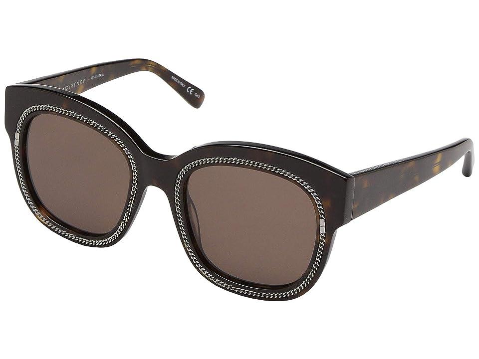 Stella McCartney SC0041S (Avana/Brown) Fashion Sunglasses