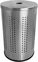 Krugg Stainless Steel Laundry Bin & Hamper | 46L Ventilated Stainless Steel Clothes Basket with Polished Lid Life Time War...