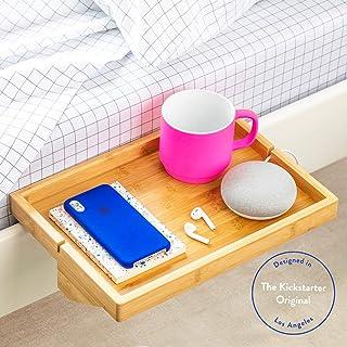 BedShelfie - Estante de Noche de bambú Moderno/Ahorro de Espacio, mesilla de Noche Flotante Ajustable para Habitaciones pequeñas, literas de Loft y dormitorios contemporáneos (Natural)