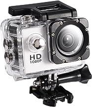 Lazmin 1080P Cámara Deportiva a Prueba de Agua, Mini DV Cámara de acción Videocámara USB 2 Pulgadas 12MP Cámara subacuátic...
