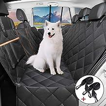 OMORC Cubierta de Asiento para Perros, Funda de Asiento para Perros Impermeable y Resistente, Funda Coche para Perros con Rejilla Flexible Pasar Aire, Universal para SUV, Camión, Transportar y Viaje
