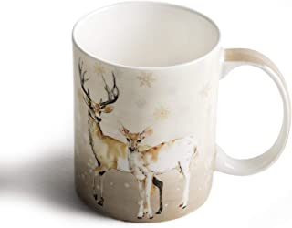 Maison d' Hermine Deer In The Woods Oh Deer Coffee Mug 12 Ounce. Perfect for Thanksgiving and Christmas