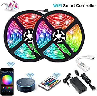 Litake LED Strip Lights, App Controlled WiFi Light Strips Compatible with Alexa Google Assistant,300 LEDs 32.8ft Music to Sync Light Strips Wireless Flexible RGB Tape Lights