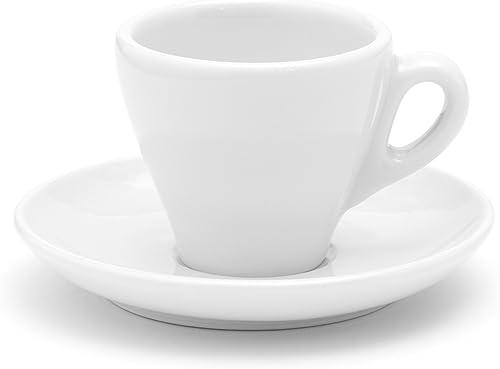 Italienische Espressotasse weiß, dickwandig aus Porzellan