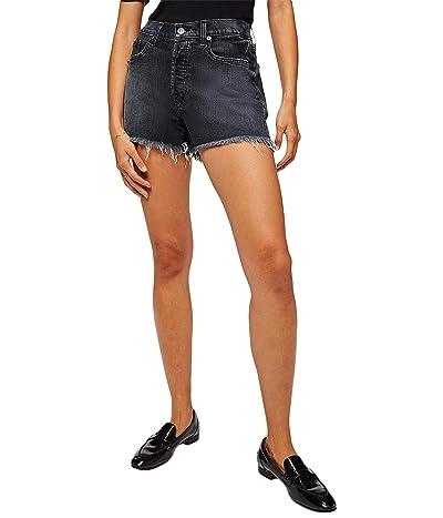 7 For All Mankind Monroe Cutoffs Shorts in Eclipse Black Women