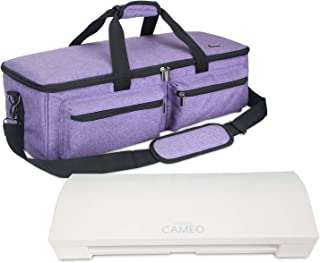 Luxja Bag for Silhouette Cameo 3, Carrying Case for Cutting Machine and Accessories, Compatible with Cricut Explore Air (Air2), Cricut Maker and Silhouette Cameo 3, Purple (Patent Pending)