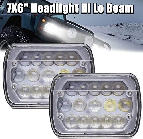 """discount 2Pcs 7""""X6"""" LED Lights Clear Sealed Beam High Low Beam Headlight Headlamp online sale H6014 H6052 H6054 6054 Replacement with H4 Plug Easy Installation new arrival Super Bright, 2 Year Warranty outlet online sale"""
