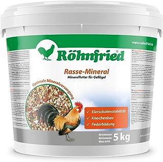Röhnfried Rasse Mineral für Rassegeflügel - EIN Naturprodukt mit wertvollen Mineralien (5 kg)