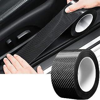 TYLife Car Door Edge Guards, Scratch Cover Sill Protector Bumper Protector 5D Carbon Fiber Car Wrap Film Automotive Self-A...