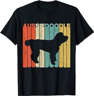 Vintage Retro Aussiedoodle Silhouette T-Shirt