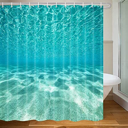 Details about  /Sunset Over The Sea Shower Curtains Bathroom Waterproof Accessories Decor 71/'/'